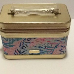 New Lilly Pulitzer Train Case with Brushes